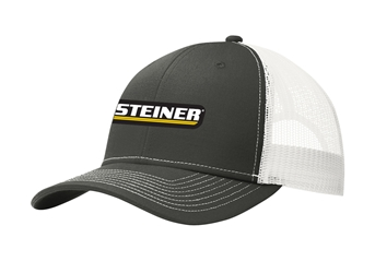 Steiner Grey with White Mesh Trucker Ball Cap